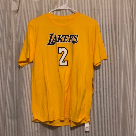 best service 43b05 83a39 LOS ANGELES LAKERS LONZO BALL T-SHIRT JERSEY